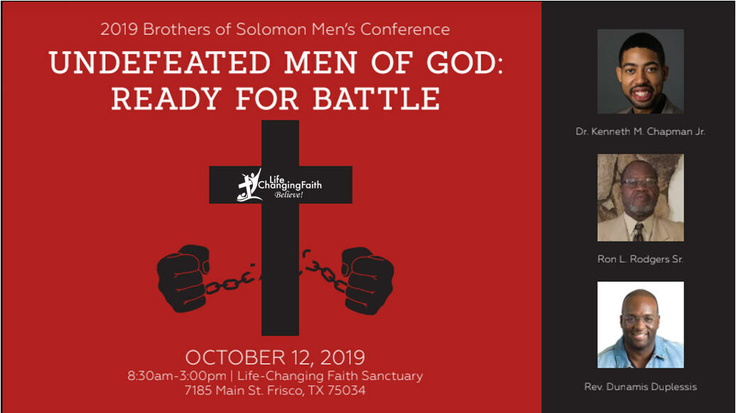 2019 Brothers of Solomon Men's Conference - Undefeated Men of God: Ready For Battle