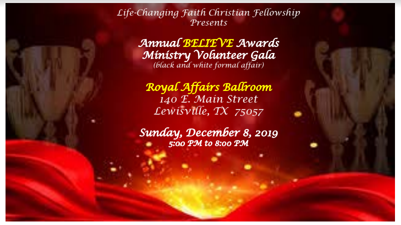 2019 LCF Believe Awards Ministry Volunteers Gala